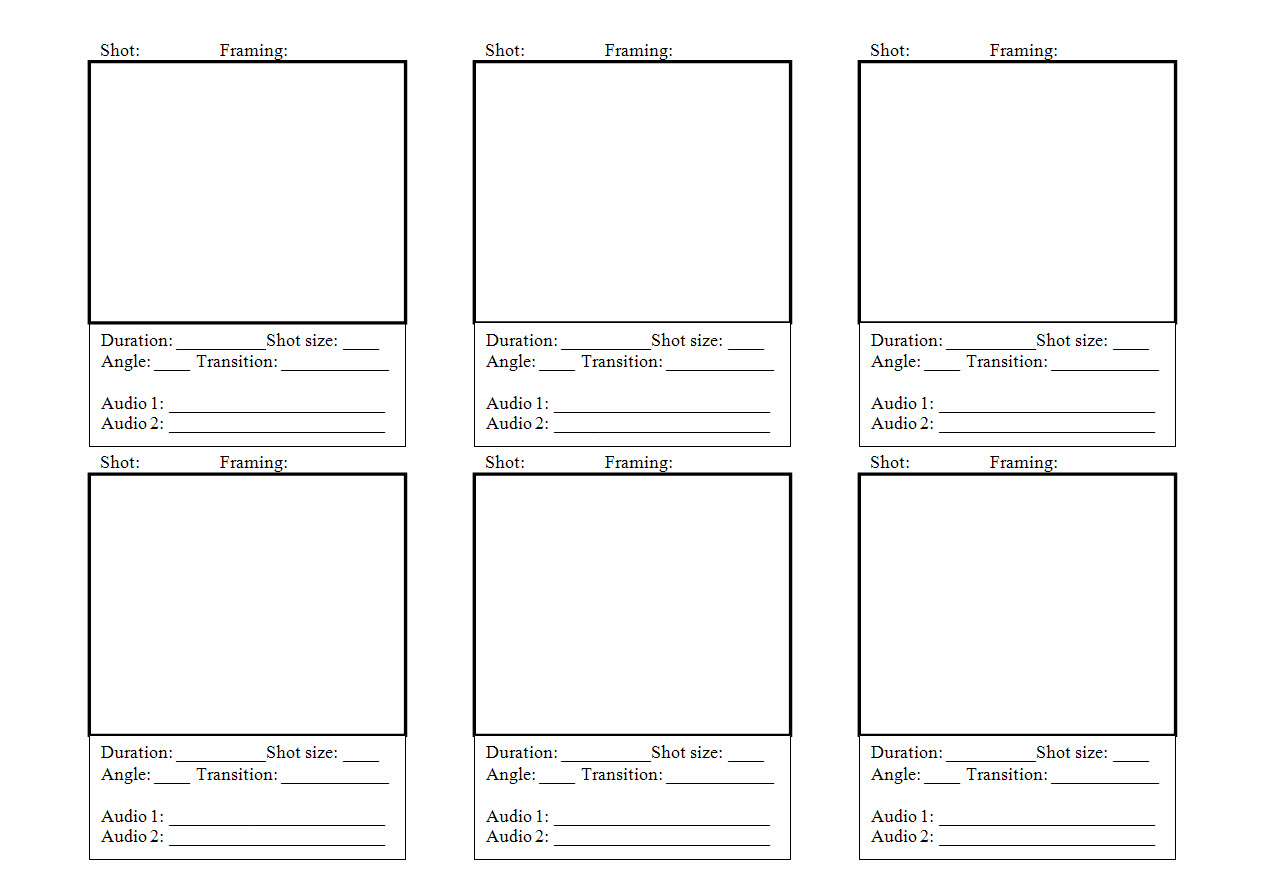 STORYBOARD TEMPLATE | Templates Now